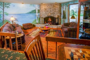 Fireplace | Open Hearth Lodge Door County