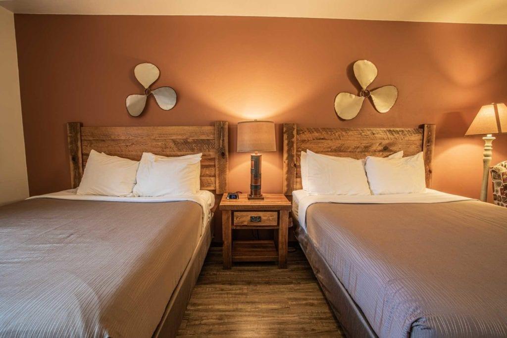 Deluxe Two Queen Beds at Open Hearth Lodge Door County