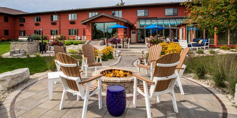 Open Hearth Lodge Patio in Door County